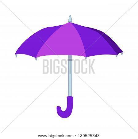 Cartoon multi colored umbrella flat design style. Autumn accessory concept fashion umbrella. Colorful flat collection comfort umbrella outdoor element, climate protective sign.