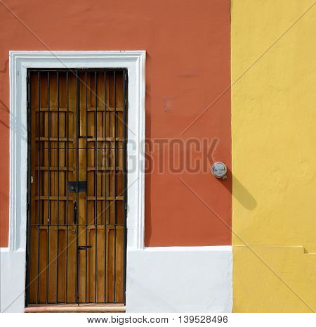 Background and Textures for an abstract look this is an antique Yucatan wood door