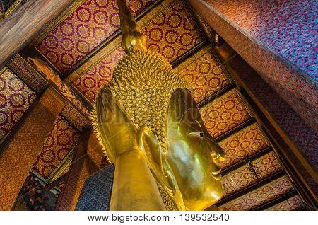 Wat Pho Temple Bangkok Thailand, October 21 : The Reclining Buddha At Wat Pho In Bangkok, Thailand.