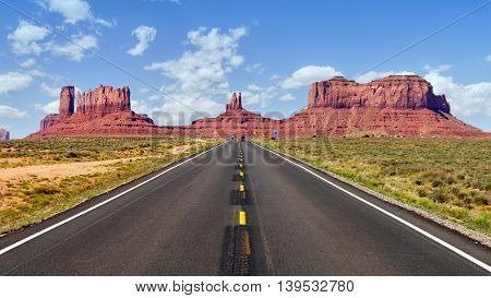 Monument Valley legendary Road. Arizona - Utah, USA