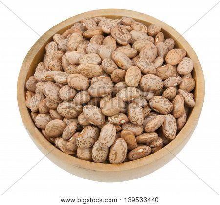 Pinto Beans Isolated On A White