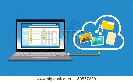 backup data storage to cloud vector illustration design