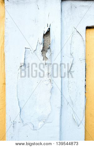 Yellow Erode Painted Concrete Wall,grunge Rough Texture Background.