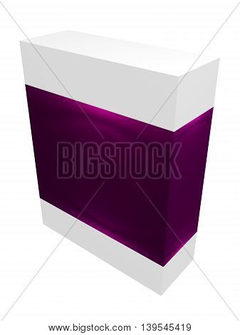 Pink paper box for IT equipment, soft, product, delievery on white background isolated