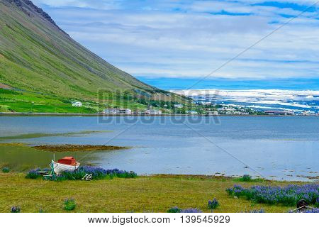 View Of Isafjordur Town