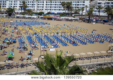 Puerto Rico Beach At Gran Canaria, Spain