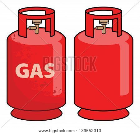 Propane gas cylinder on white background, vector illustration