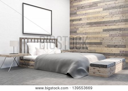 Bedroom With Furniture And Picture