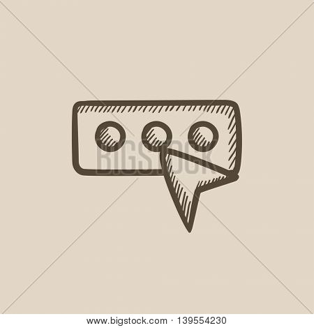 Password sketch vector sketch icon isolated on background. Hand drawn Password sketch icon. Password sketch sketch icon for infographic, website or app.