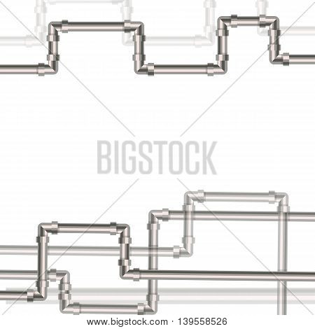 Abstract background with flat designed pipeline and valve on pipe . Concept for web newsletters water wastewater or oil pipeline industry. Vector illustration.