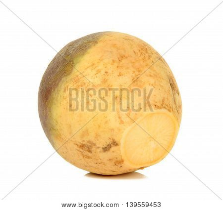 Swede Isolated On The White Background