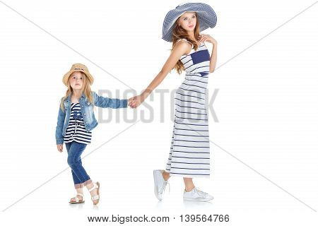 Young Mom And Cute Daughter