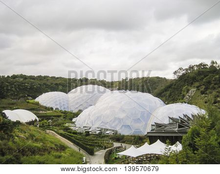 View of the Eden Project in Cornwall, UK