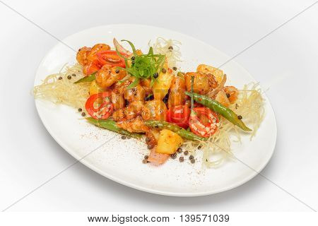 Grilled Chicken with pineapple and sweet Teriyaki sauce