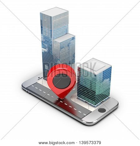 Navigation concept. 3d image. Isolated white background.