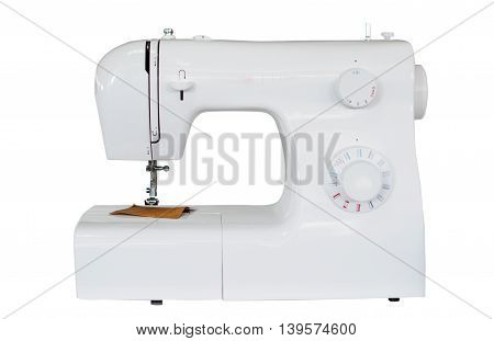 sewing machine industry on a white background