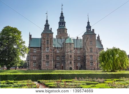 Rosenborg Castle in Copenhagen the capital city of Denmark