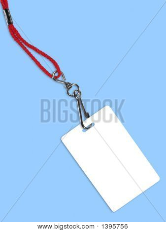 Blank White Badge With Copy Space (+ Clipping Path)