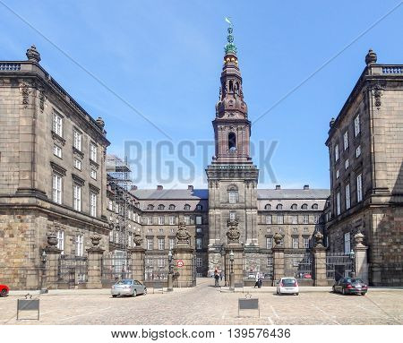 Christiansborg Palace in Copenhagen the capital city of Denmark poster