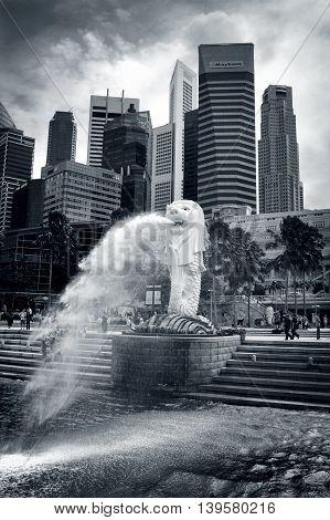 Merlion Fountain