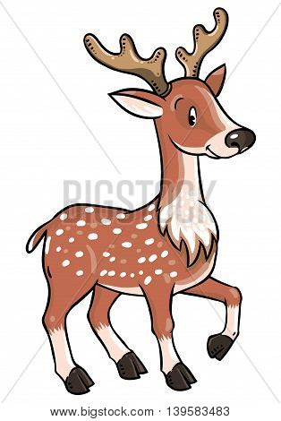 Children vector illustration of young deer or fawn