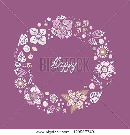 card. poster brochure template with oriental flower. russia or slavs design.