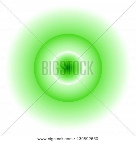 Glowing Circle With Transparency. Faded Light Effect. Emission, Radiation Concepts.