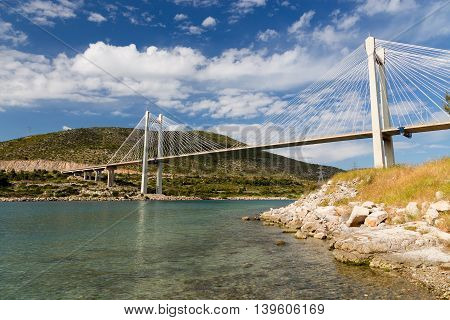 The bridge of Chalkis in Euboea, Greece