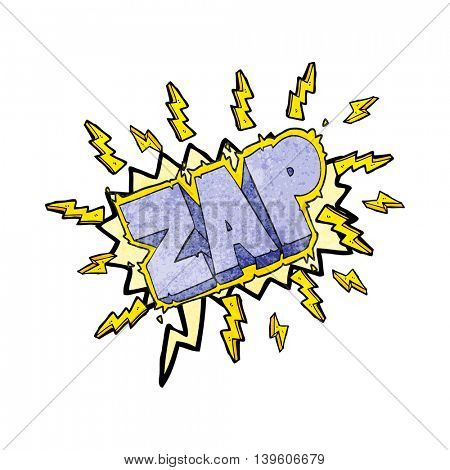 freehand speech bubble textured cartoon zap symbol