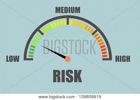 detailed illustration of a risk meter, eps10 vector