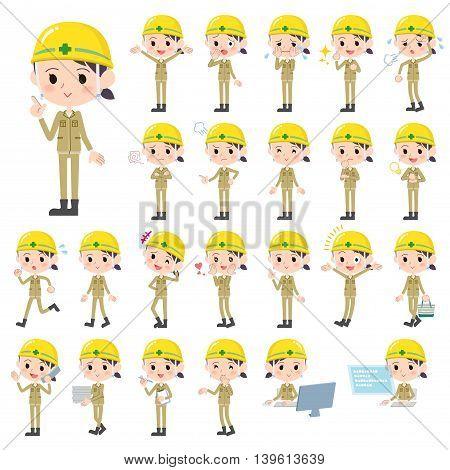 Helmet Construction Worker Woman