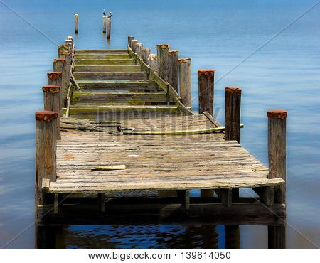 Old Boat Dock with a Soft Background