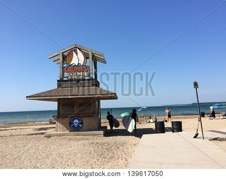 Canada, July 25, 2015, Norfolk County, Ontario, Turkey Point, Lake Erie Beach house restaurant