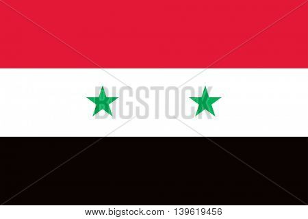 Vector Syrian Arab Republic flag