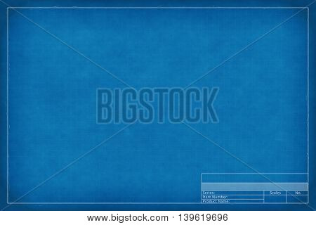2d illustration of a blank blueprint