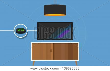 IP TV connected TV to internet protocol digital vector
