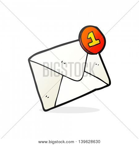 freehand drawn cartoon email