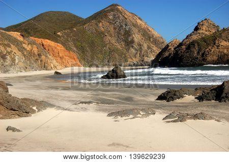 secluded Julia Pfeiffer State Beach, Big Sur, California
