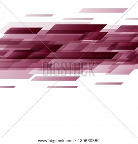 Abstract red rectangles technology background, stock vector