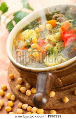 Soup With Peas And Vegetables