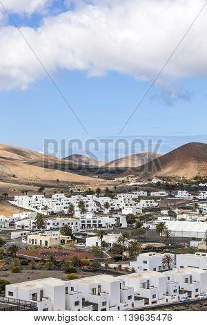 Village Uga On Canary Island Lanzarote, Spain