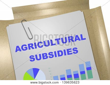 Agricultural Subsidies Concept