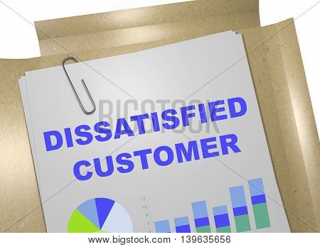 Dissatisfied Customer Concept
