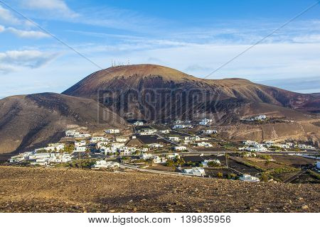 picturesque village of Femes in Lanzarote, Spain