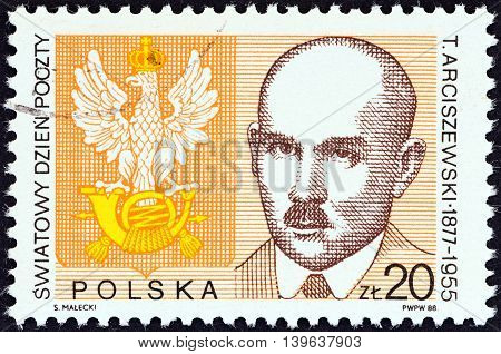 POLAND - CIRCA 1988: A stamp printed in Poland from the