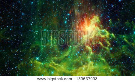 Beautiful Bright Galactic Nebula