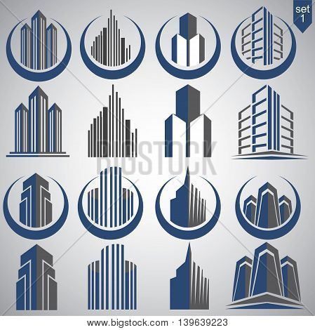 realty logo set 1 concept designed in a simple way so it can be use for multiple proposes like logo ,mark ,symbol or icon.
