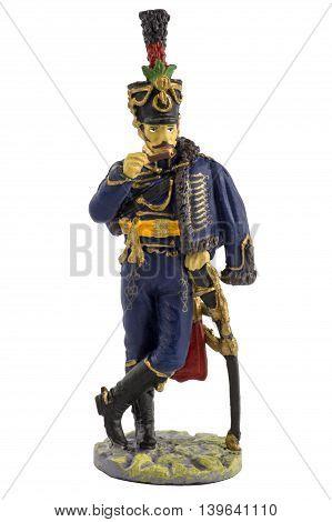 Petty Officer 1st Hussars of Emperor Franz I in dress uniform. 1813-1814