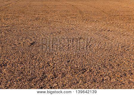 Mark Of Plow On Field