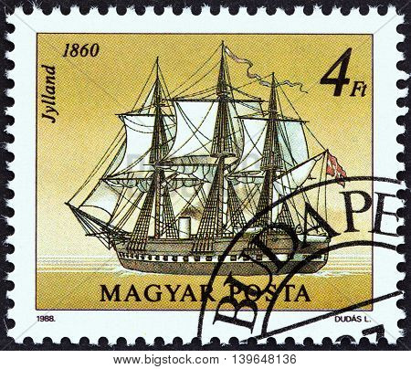 HUNGARY - CIRCA 1988: A stamp printed in Hungary from the